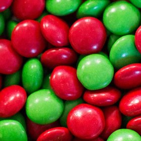 Just Candy Milk Chocolate Minis Green & Red Mix 2lb Bag