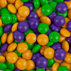 Just Candy Milk Chocolate Minis Mardi Gras Mix 2lb Bag