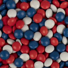 Just Candy Milk Chocolate Minis Patriotic Mix 2lb Bag