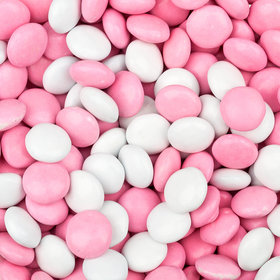 Just Candy Milk Chocolate Minis Pink & White Mix 2lb Bag