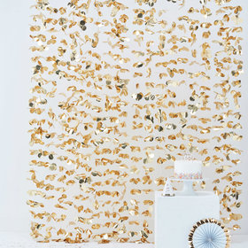 Gold Flower Curtain