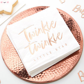 Rose Gold Twinkle Twinkle Napkins