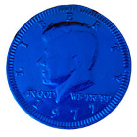 Fresch Milk Chocolate Coins Dark Blue Foil