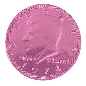 Fresch Milk Chocolate Coins New Pink Foil