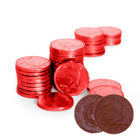 Fresch Milk Chocolate Coins Apple Red Foil