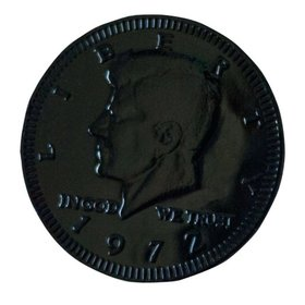 Fresch Milk Chocolate Coins Jet Black Foil
