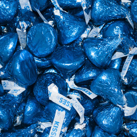 Hershey's Kisses Dark Blue Foil Candy