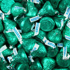 Green Hershey's Kisses Foil Wrapped Bulk Chocolate Candy