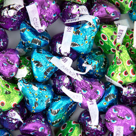 Halloween Candy Hershey's Kisses Monster Foil