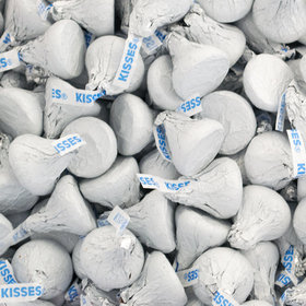 White Hershey's Kisses Foil Wrapped Bulk Chocolate Candy