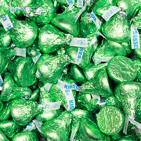 Kiwi Green Hershey's Kisses Foil Wrapped Bulk Chocolate Candy