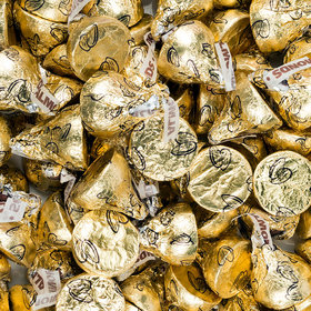 Hershey's Kisses Gold Foil Milk Chocolate & Almonds