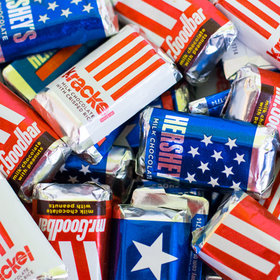 Patriotic Hershey's Miniatures 1lb bag