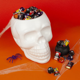 Hershey's Miniatures and Miniature Reese's Skull Bowl