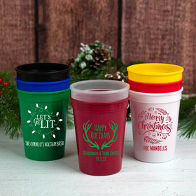 Personalized Christmas 12oz Stadium Cup