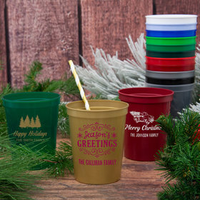 Personalized Christmas 16oz Stadium Cup