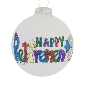 Happy Retirement Glittered Letters Ornament
