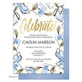 Bonnie Marcus Collection Personalized Hats Off Graduation Invitation