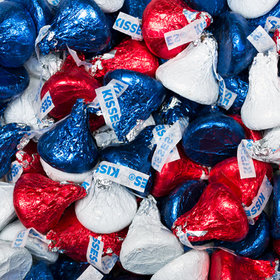 Red, Blue, & White Hershey's Kisses Foil Wrapped Bulk Chocolate
