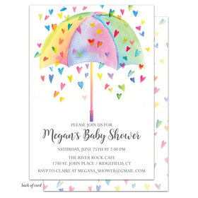 Bonnie Marcus Collection Personalized Heart Shower Invitation - Multi