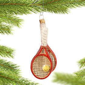 Personalized Tennis Racket Christmas Ornament