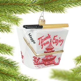 Chinese Take Out Box Ornament