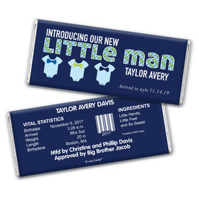 Baby Boy Announcement Personalized Chocolate Bar