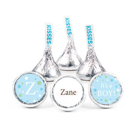 Baby Boy Announcement Personalized Hershey's Kisses Dots Assembled Kisses (50 Pack)
