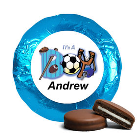 "Baby Boy Announcement Chocolate Covered Oreos Sports ""It's a Boy"" (24 Pack)"