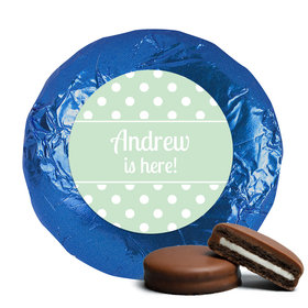 Baby Boy Announcement Chocolate Covered Oreos Polka Dots (24 Pack)