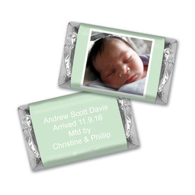Baby Boy Announcement Personalized Hershey's Miniatures Photo