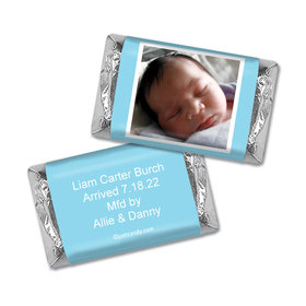 Baby Boy Announcement Personalized Hershey's Miniatures Wrappers Photo