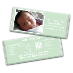 Baby Boy Announcement Personalized Chocolate Bar Wrappers Photo