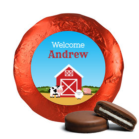 Baby Boy Announcement Chocolate Covered Oreos Barnyard (24 Pack)