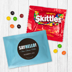 Personalized Boy Birth Announcement Say Hello Skittles