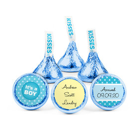 Personalized Boy Birth Announcement He Has Arrived Hershey's Kisses (50 pack)