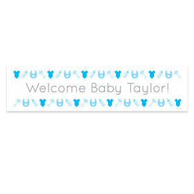 Personalized Welcome Boy Baby Announcement Banner