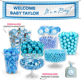 Personalized Birth Announcement It's a Boy Deluxe Candy Buffet