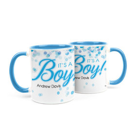 Personalized Baby Boy Announcement Bubbles 15oz Mug