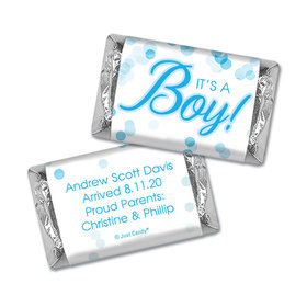 Personalized Baby Boy Birth Announcement Bubbles Hershey's Miniatures