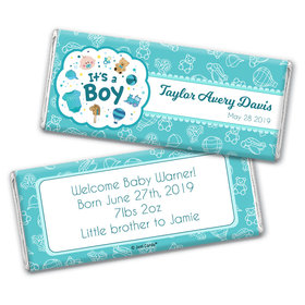 Personalized It's a Boy Bundle of Joy Chocolate Bar Wrappers Only