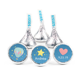 Personalized Boy Birth Announcement Stars Hershey's Kisses (50 pack)