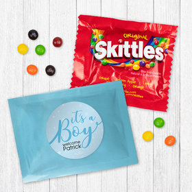 Personalized Boy Birth Announcement It's a Boy Skittles
