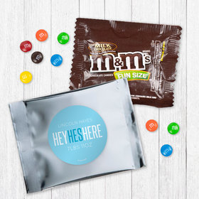 Personalized Boy Birth Announcement He's Here Milk Chocolate M&Ms