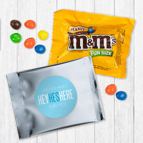 Personalized Boy Birth Announcement He's Here Peanut M&Ms