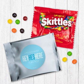 Personalized Boy Birth Announcement He's Here Skittles