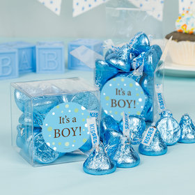 Baby Boy Birth Announcement Bubbles Clear Gift Box