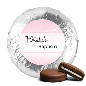 Baptism Chocolate Covered Oreos Cross & Scroll
