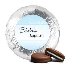 Baptism Chocolate Covered Oreos Cross & Scroll (24 Pack)