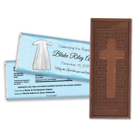 Baptism Personalized Embossed Cross Chocolate Bar Wrapped in Faith